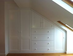 Made to measure loft eaves storage. Hand made in London. #BespokeFurniture www.timamery.com