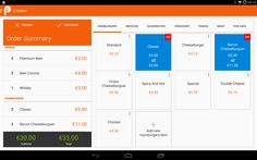 order point of sale in tablet 10''