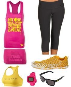 Pink and Yellow Workout clothes by James N. Salley