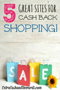 Wouldn't you like to get paid back for all the money you spend online? This is a list of five sites that will pay you cash back for much of the shopping you do!