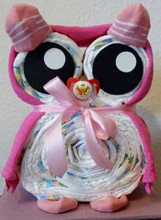 Items similar to diaper cake * owl * gift for birth / christening / birthday / baby shower on etsy - Are you looking for a gift for a new person on earth, for baptism or for your first birthday? Baby Shower Diapers, Baby Shower Games, Baby Boy Shower, Owl Shower, Nappy Cake, Birth Gift, Baby Shower Decorations For Boys, Baby Shower Winter, Baby Party