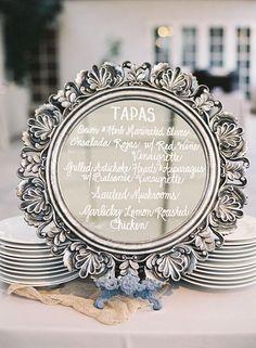 vintage mirror wedding sign decor