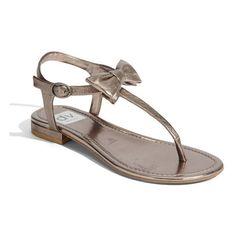 DV by Dolce Vita 'Dakota' Sandal Dark Silver 9.5 M ❤ liked on Polyvore