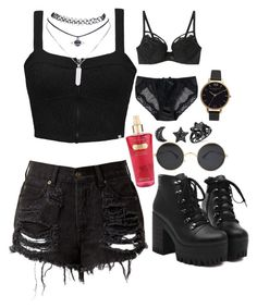 """""""arlyx"""" by sleepingwithrazors ❤ liked on Polyvore featuring Element, Victoria's Secret, Olivia Burton and Wet Seal"""