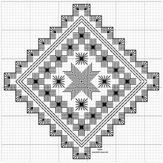 Hardanger Embroidery Design Vevstua Bull-Sveen – Husflid m. Hardanger Embroidery, Learn Embroidery, Embroidery Patterns Free, Hand Embroidery Stitches, Embroidery Designs, Cat Cross Stitches, Swedish Weaving, Drawn Thread, Brazilian Embroidery