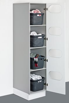 Utility room – Showcase Kitchens Brighton & Hove, - Top Of The World Laundry Room Organization, Laundry Room Design, Ironing Board Storage, Laundry Sorting, Larder Unit, Laundry Cabinets, Laundry Room Inspiration, Brighton, Small Laundry