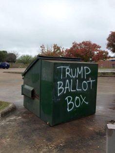 Trump Ballot Box #RePin by AT Social Media Marketing - Pinterest Marketing Specialists ATSocialMedia.co.uk