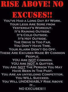 This was me yesterday.  Sore from yesterdays work out? Pain is no excuse. Go on, keep working for it. <3