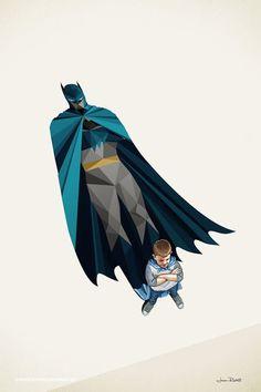 Superheroes Shadows Posters