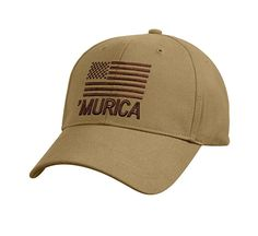 ae22dd5e435ef4 Deluxe Murica Low Profile Cap Patriotic Baseball Hat One Size Adjustable  #Rothco #BaseballCap Mountain