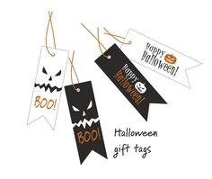 """Σας προσφέρουμε 2 σετ gift tags με θ έ μα το Halloween . Το στυλ τους είναι λιτό και μοντέρνο για να """"δέσουν"""" εύκολα με την συσκευασία..."""