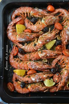 Quick and easy baked prawns-Gamberoni a forno facili e veloci Baked king prawns Kitchen that passes you - Bean Recipes, Fish Recipes, Seafood Recipes, Salad Recipes, Cooking Recipes, Healthy Recipes, Shrimp Dishes, Fish Dishes, Fish Salad