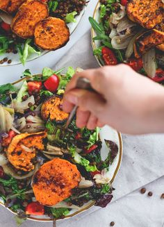 Du Puy Lentil Salad with Fennel and Sweet Potatoes - we LOVE this recipe! It's filling, flavorful, vegan, and really easy to make. Du Puy lentils have a nutty flavor and combined with the sweet potatoes and fennel it's absolutely devine!   thehealthfulideas.com