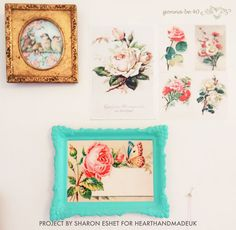 How To Make A Vintage Postcard Wall - Heart Handmade uk