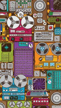 Magnetophones iPhone 6 Wallpaper