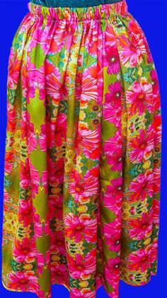 Green and Pink Art Nouveau Daisies Silk Satin kirt by cicelygilman on Etsy