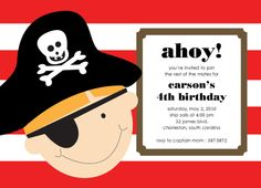 Free Printable Pirate Invitations For Kids