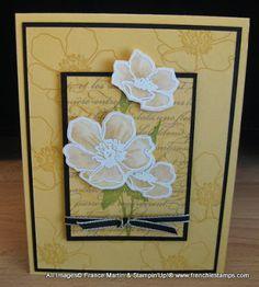 Stamp & Scrap with Frenchie: Dimension Vellum Flower video. Fabulous Florets, En Francais stamp set