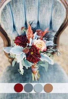 Beautiful burgundy and dusty blue october wedding colors for fall 2015 by lihoffmann