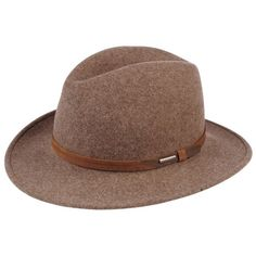 44d444c9 Stetson Explorer Hat in Brown | Stetson ($72) via Polyvore High End Fashion,