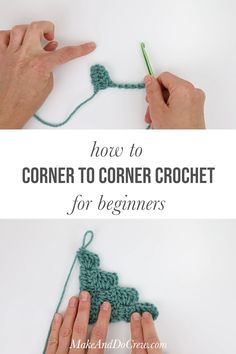 Free video tutorial to learn how to do corner to corner crochet. Perfect for beginners! Learn all the essentials of how to corner to corner crochet including increases, decreases and how to read a graphgan chart. Watch this video tutorial now! Crochet Stitches Patterns, Crochet Afghans, Crochet Designs, Crochet Borders, C2c Crochet Baby Blanket Pattern, Simple Knitting Patterns, Beginner Crochet Patterns, Crochet Bookmark Pattern, Crochet Bracelet Pattern