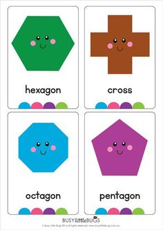 "Our ""Shape Flash Cards"" are a great learning tool for your children to learn their shapes. You will receive 16 printable shape flash cards"