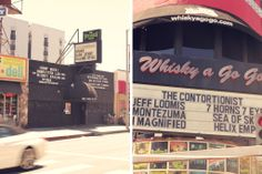 The Viper room, Whiskey a go go, Hollywood, Los Angeles, California, Roadtrip, Highway 1