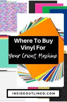 Wondering where to buy vinyl for your Cricut machine? This post lists 5 vinyl sources that you'll want to bookmark. Buy Vinyl, Used Vinyl, Cricut Vinyl, Cricut Stencils, Cricut Air, Cheap Heat Transfer Vinyl, Cheap Vinyl, My Vinyl Direct, Cricut Explore Projects