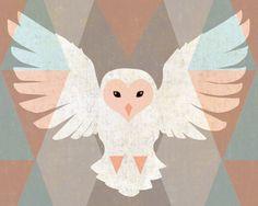 Snowy Owl 8x10 Print by thewoodlandbrush on Etsy,