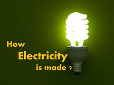 How electricity is generated -Unit for kids
