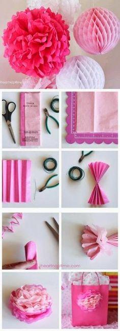 DIY : Make Tissue Paper Flowers by Hairstyle Tutorials