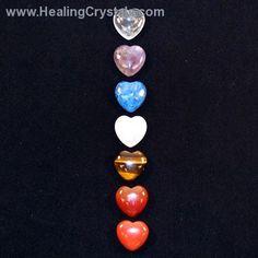 7 Chakra Heart Set www.HealingCrystals.com