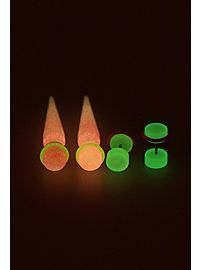 HOTTOPIC.COM - Pink Yellow Glow-In-The-Dark Faux Taper And Plug 4 Pack