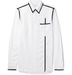 Givenchy Slim-fit Contrast-trimmed Cotton-poplin Shirt In White Designer Casual Shirts, Casual Shirts For Men, Men Casual, Plain White Shirt, Classic White Shirt, Cut Shirts, Boys Shirts, Rare Clothing, Funky Dresses
