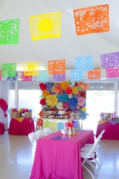 Colorful Mexican Themed Baby Shower with Lots of Really Fun Ideas via Kara's…