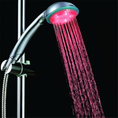 Hydro-powered led shower head for religious gift with single Red color in color box #Affiliate