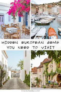 How many of these hidden gems in Europe have you heard of? Here are some of our favorite off-the-beaten-path European towns that are stunning and worth a visit! Places In Europe, Europe Destinations, Best Places To Travel, Amazing Destinations, Places To Go, Travel Pics, European Travel Tips, Europe Travel Guide, Travel Guides