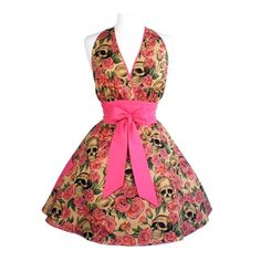 This awesome skulls and roses apron will turn an evening of cooking at home into a stylish event