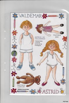 Danska Pärm 2 | Maggans nostalgiska klippdockor *1500 free paper dolls for Christmas at artist Arielle Gabriels The International Paper Doll Society and also free Asian paper dolls at The China Adventures of Arielle Gabriel *