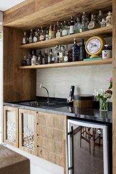 Luxury Home Bar Interior Bar Interior, Interior Decorating, Interior Design, Home Bar Signs, Home Bar Decor, Grey Kitchens, Cool Kitchens, Rustic Kitchen, New Kitchen