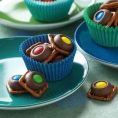 Chocolate Pretzel Rings Recipe   Taste of Home Recipes