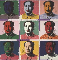 Andy Warhol's painting of Mao Zedong, the communist party leader of China. Sold for 17 million US dollars.