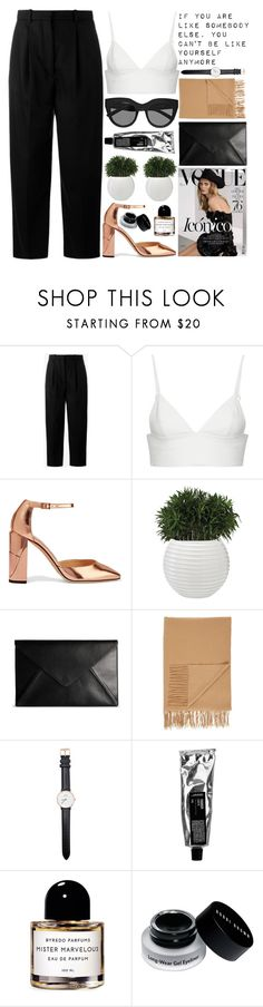 """""""iconic"""" by evangeline-lily ❤ liked on Polyvore featuring Acne Studios, T By Alexander Wang, Jimmy Choo, Bela, Maison Margiela, Sofiacashmere, Daniel Wellington, Byredo, Bobbi Brown Cosmetics and Le Specs"""