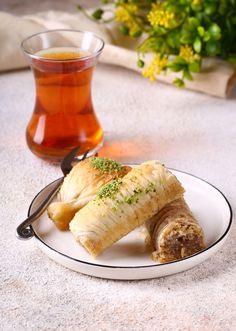 """What comes to mind when you hear """"baklava""""? Greek festivals, sweet pastry, honey and nuts? This Mediterranean confection has been enjoyed for centuries, through invasions, economic woes, and even world wars! #baklava #fandbrecipes #foodblog Soup Recipes, Vegetarian Recipes, Healthy Recipes, A Food, Good Food, Baklava Recipe, B Recipe, Sweet Pastries"""