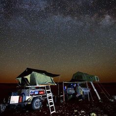 Cool night time Roof Top Tent camping shoot. Photo Greydon Reid