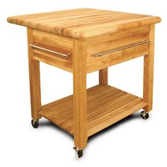 Catskill Craftsmen Grand Natural Kitchen Cart with Drop Leaf and Wine Rack, Natural Wood Butcher Block Kitchen, Butcher Block Top, Kitchen Tops, Butcher Blocks, Kitchen Ideas, Kitchen Redo, Kitchen Inspiration, Kitchen Dining, Kitchen Remodel