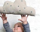 Linen Polka Dot Cloud Cushion. $38.00, via Etsy.