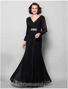 b0a5144b5a0  blackformaldress A-line Plus Sizes Dresses Petite Mother of the Bride Dress  Black Long