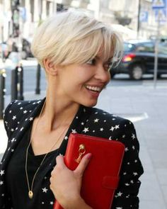 Charming Platinum Pixie Cut—Lovely and Pretty