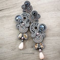 Your place to buy and sell all things handmade Soutache Necklace, Beaded Earrings, Statement Earrings, Shibori, Etsy Jewelry, Boho Jewelry, Jewellery, Handmade Necklaces, Handmade Jewelry
